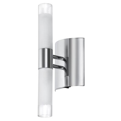 Dainolite Frosted Glass 2 Light Bath Bar
