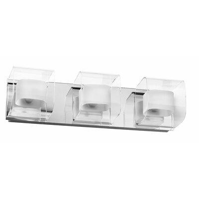 Dainolite Clear/Frosted Glass 3 Light Bath Vanity Light