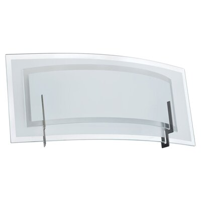 Dainolite Clear/Frosted Glass 1 Light Vanity Light