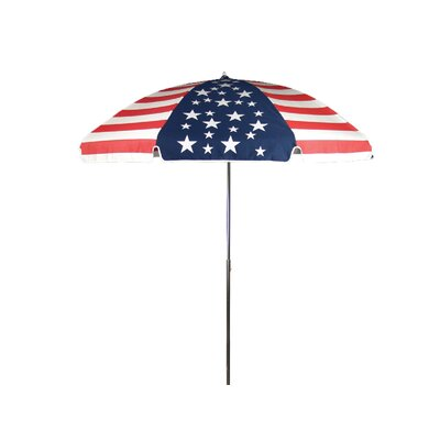 Frankford Umbrellas 7.5' Steel Marine American Flag Patio Umbrella with Tilt