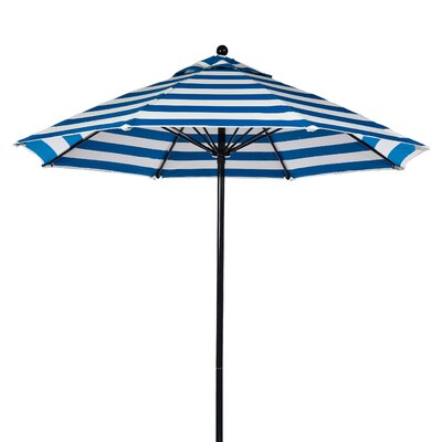 7.5' Fiberglass Striped Market Umbrella