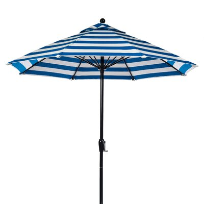 9' Fiberglass Crank-up Striped Market Umbrella