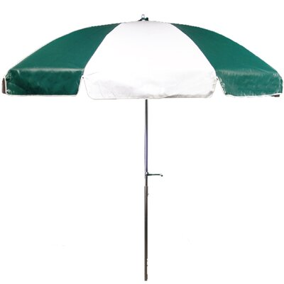 Frankford Umbrellas 7.5' Steel Heavy Striped Patio Umbrella with Crank and Tilt