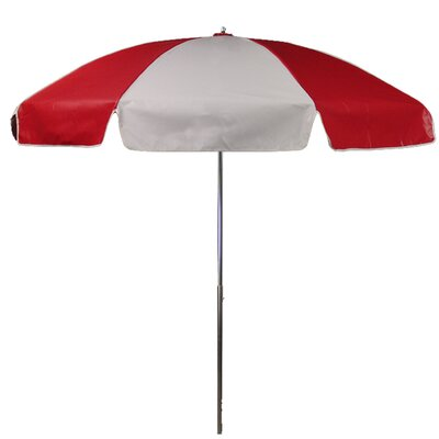 Frankford Umbrellas 7.5' Steel Heavy Striped Patio Umbrella with Tilt