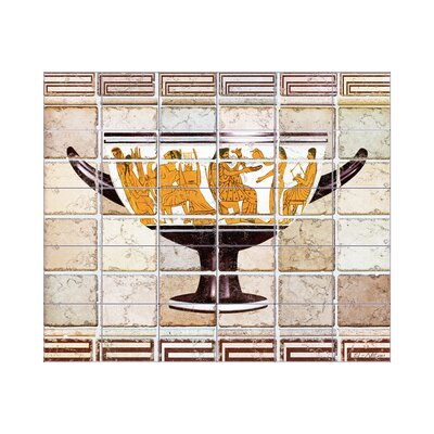 LMT Tile Murals Antique Vase 2 Kitchen Tile Mural