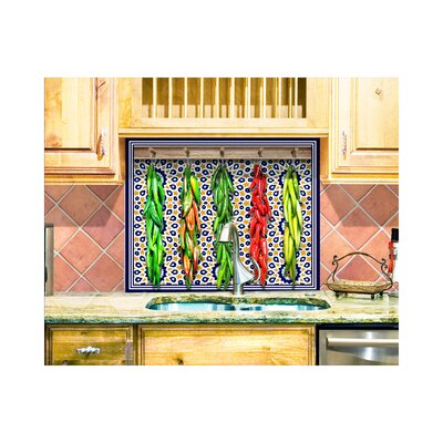 LMT Tile Murals Chili Peppers Kitchen Tile Mural