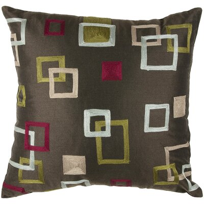 "Rizzy Home T-2755 18"" Decorative Pillow in Brown"