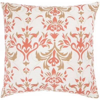 "Rizzy Home T-3597 18"" Decorative Pillow in Off White / Paprika"