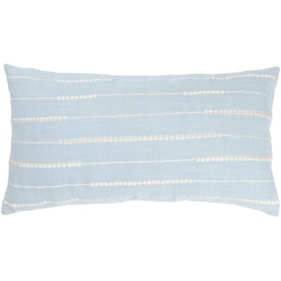 "Rizzy Home T-3504A 21"" Decorative Pillow in Grey Blue / Off White"