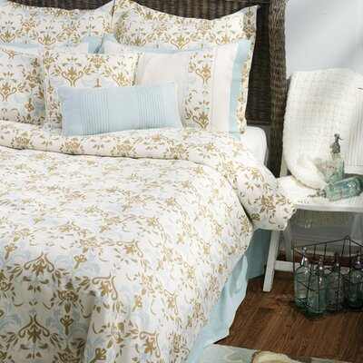 Rizzy Home Katerina Bedding Set in Beige / Blue