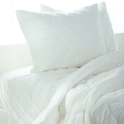 Rizzy Home Solid Quilt 3 Piece Quilt Set in White