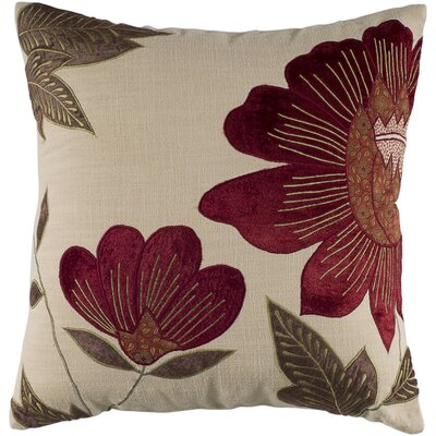 Rizzy Home Red and Cream Decorative Pillow