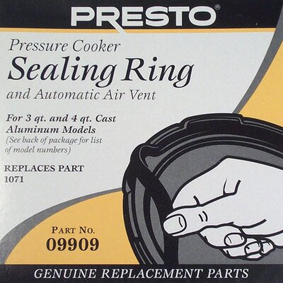 Presto Sealing Ring for 3-qt. and 4-qt. Pressure Cooker