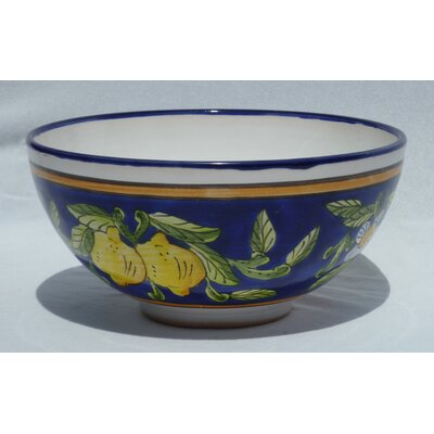 "Le Souk Ceramique Citronique Design 8"" Serving Bowl (Set of 2)"