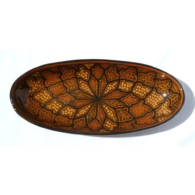 "Le Souk Ceramique Honey Design 16"" Oval Platter (Set of 2)"