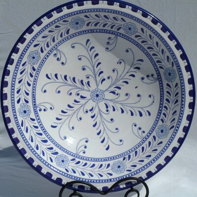 "Le Souk Ceramique Azoura Design 16"" Serving Bowl"