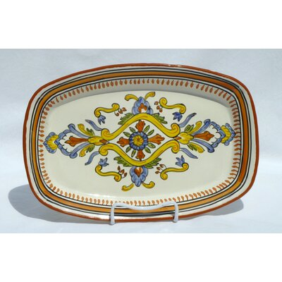 "Le Souk Ceramique Sauvage Design 13"" Rectangular Platter"