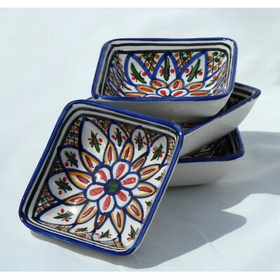 Le Souk Ceramique Tabarka Design Serving Dish (Set of 4)