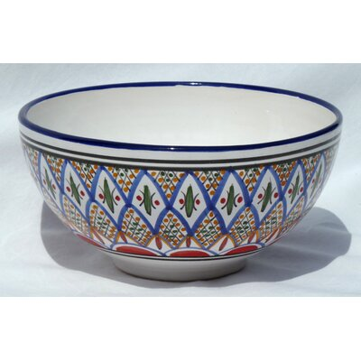 "Le Souk Ceramique Tabarka Design 8"" Serving Bowl (Set of 2)"