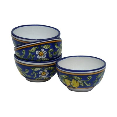 Le Souk Ceramique Citronique Design Soup / Cereal Bowl (Set of 4)