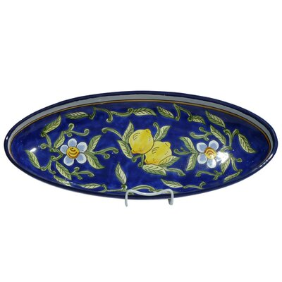 "Le Souk Ceramique Citronique Design 21"" Oval Platter"