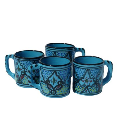 Le Souk Ceramique Sabrine Design 12 oz. Coffee Mug (Set of 4)