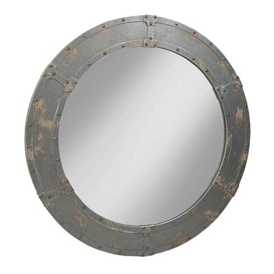 Nautique Mirror in Distressed Dark Brown