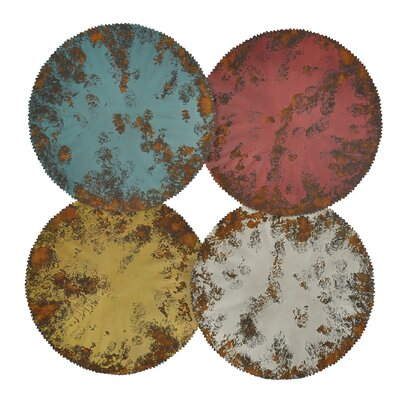 Moe's Home Collection Distressed Circles Wall Décor