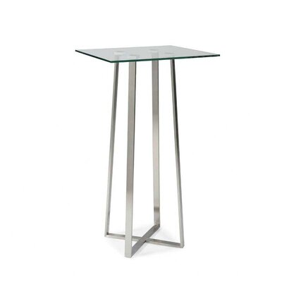 Moe's Home Collection Spicci Bar Table in Clear Glass