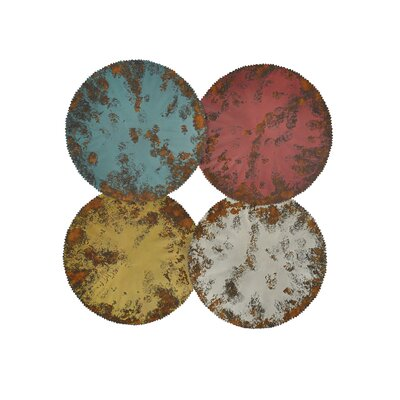 Moe's Home Collection Distressed Circles Wall Decor