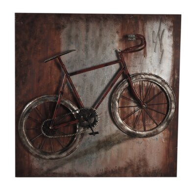 Moe's Home Collection Metal Single Bike Wall Decor