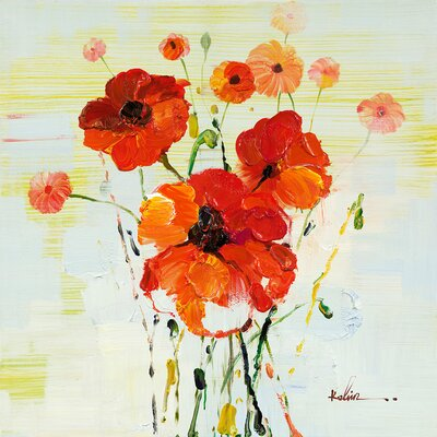 Moe's Home Collection Poppy Painting Print on Canvas
