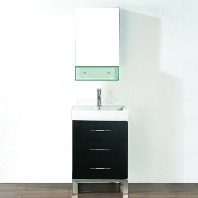 Single Bathroom Vanities on Bauhaus Bath Kinsa 22  Single Bathroom Vanity Set   Wayfair