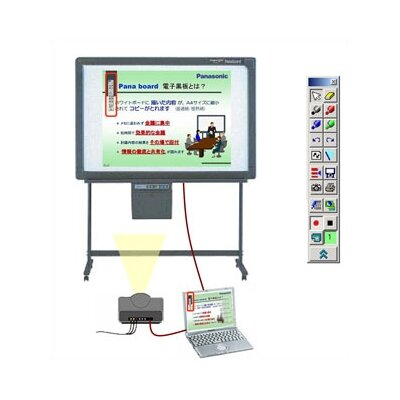 Panasonic Whiteboards 2-Panel Electronic White Board with USB Interface