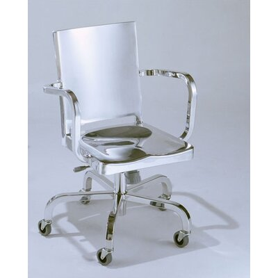Emeco Hudson Mid-Back Swivel Office Chair