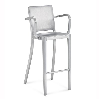 "Emeco Hudson 29.5"" Barstool with Arms"