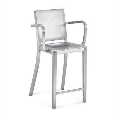 Emeco Hudson Counter Stool with Arms