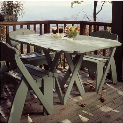 Uwharrie Chair Fanback Square Picnic Table