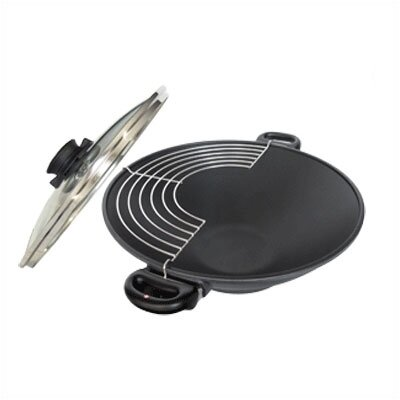 Wok with Rack with Two Short Handles and Lid