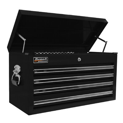 Homak 27 Pro Blk 4 Drwr Top Chest - Blk