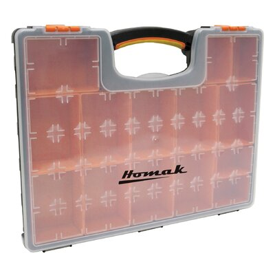 Homak Plastic Organizer W/ 22 Removable Bins
