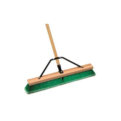 Laitner Brush 18 Push Broom Indr Sft Grn/Grey Assembled