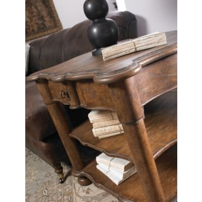Stanley Furniture European Farmhouse Salon Companion End Table