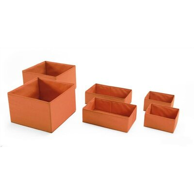 Stokke Keep Fabric Basket Set in Orange (Set of 6)