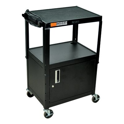 Luxor Adjustable Height Cabinet Table with Casters