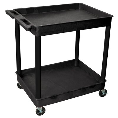 Luxor Two Tub Shelf Utility Cart