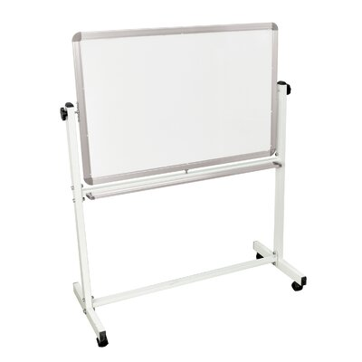 "Luxor Mobile Magnetic Whiteboard 24"" x 36"" Silver Frame"