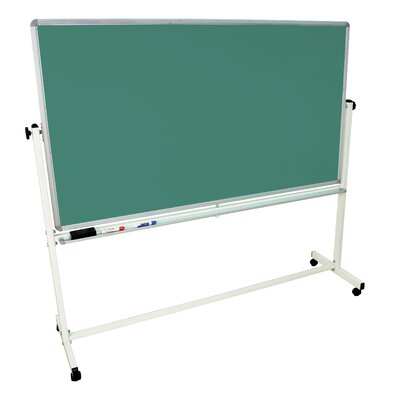 "Luxor Mobile Magnetic Whiteboard 40"" x 72"" Silver Frame"