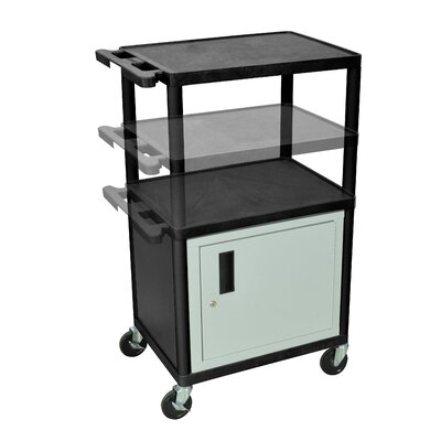Luxor LP Series AV Cart with Cabinet