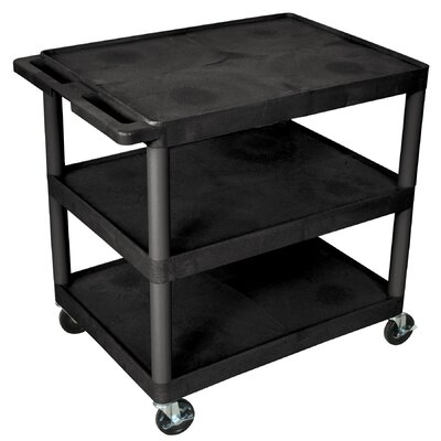 "Luxor 33.5"" 3 Shelf Heavy Duty Cart"